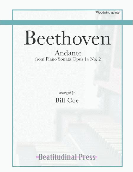 Beethoven Andante Woodwind Quintet score and parts