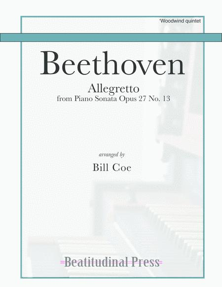 Beethoven Allegretto Woodwind Quintet score and parts
