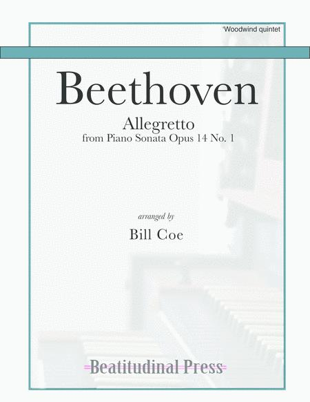 Beethoven Allegretto (Braun) Woodwind Quintet score and parts