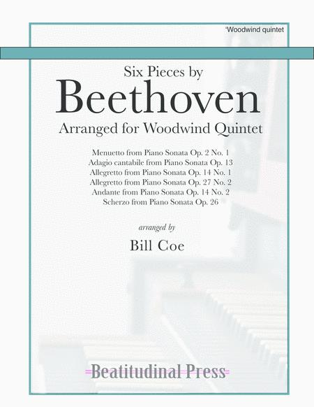Beethoven Six Pieces for Woodwind Quintet scores and parts