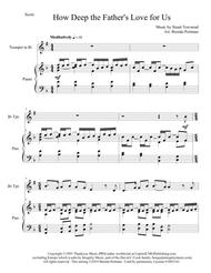 How Deep the Father's Love for Us (trumpet/piano), arr. Brenda Portman