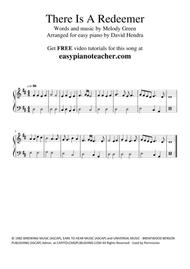 There Is A Redeemer - VERY EASY PIANO