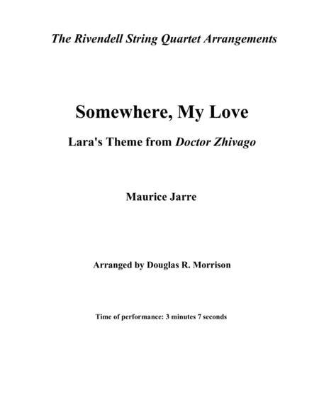 Somewhere, My Love (Lara's Theme from Dr. Zhivago)