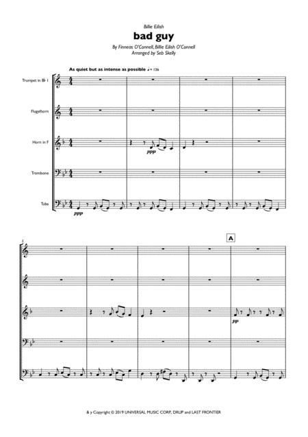 Billie Eilish - bad guy for Brass Quintet