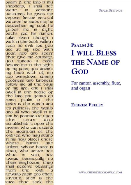 Psalm 34: I will Bless the Name of God