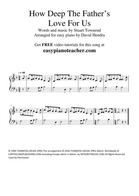 How Deep The Father's Love For Us - VERY EASY PIANO