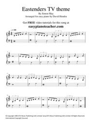 Eastenders TV Theme - VERY EASY PIANO