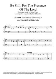 Be Still, For The Presence Of The Lord - VERY EASY PIANO