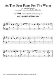 As The Deer Pants For The Water - VERY EASY PIANO