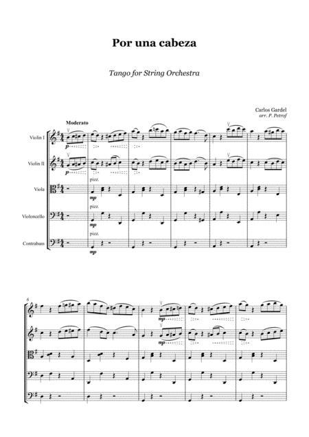 Gardel - Por Una Cabeza - string orchestra - score and parts