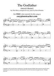 The Godfather (movie theme) - VERY EASY PIANO