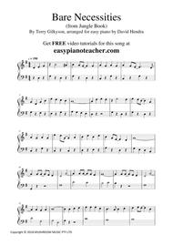 Bare Necessities from Jungle Book - VERY EASY PIANO