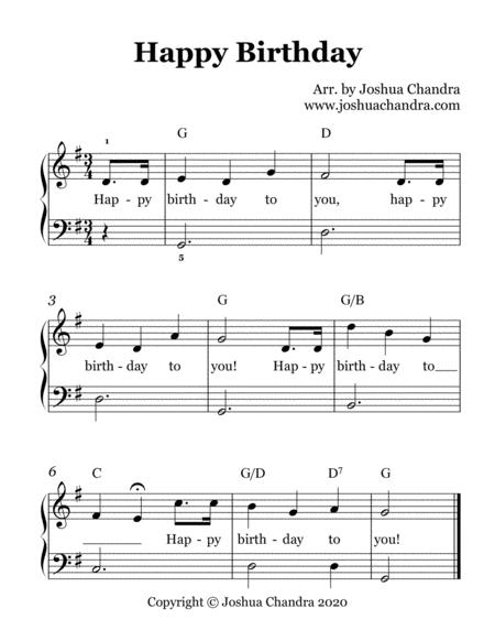Happy Birthday (Easy Piano/Lead Sheet) By - Digital Sheet Music For Lead Sheet,Score,Sheet Music ...