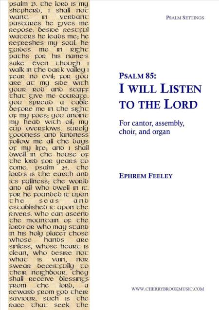 Psalm 85: I will Listen to the Lord