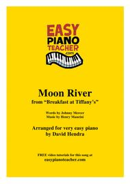 Moon River (Breakfast At Tiffany's) - VERY EASY PIANO with FREE video tutorials