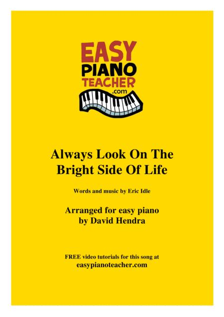 Always Look On The Bright Side Of Life - VERY EASY PIANO (with FREE video tutorials)