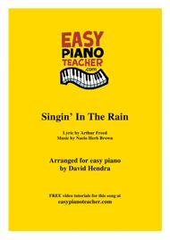 Singin' In The Rain - VERY EASY PIANO (with FREE video tutorials)