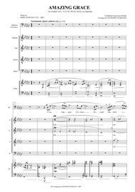 Amazing Grace (SATB, medium voice, piano)