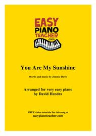 You Are My Sunshine (Johnny Cash) - VERY EASY PIANO (with FREE video tutorials!)