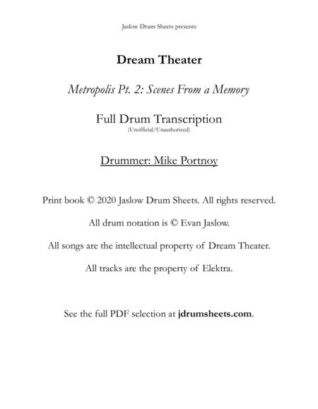 Dream Theater - Scenes From a Memory: Full Drum Transcription