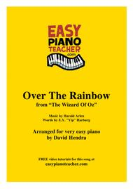 Over The Rainbow (from The Wizard Of Oz) - VERY EASY PIANO (with FREE video tutorials!)