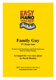 Family Guy TV theme - VERY EASY PIANO (with FREE video tutorials!)