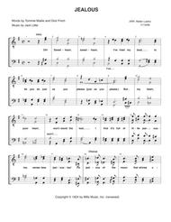Jealous By Nick Jonas Nolan And Lambroza Simon Wilcox Digital Sheet Music For Ttbb Barbershop Arrangement For Quartet Or Chorus Download Print S0 740069 From Latzko Muzic Self Published At Sheet Music Plus