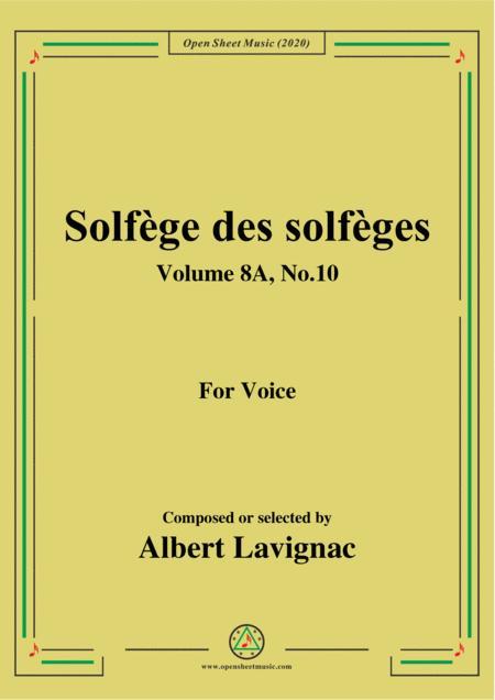 lavignac-solfège des solfèges,volume 8a,no.10,for voice by lavignac -  digital sheet music for score,set of parts - download & print s0.756631   sheet  music plus  sheet music plus