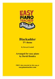 Blackadder TV Theme - VERY EASY PIANO (with FREE video tutorials!)