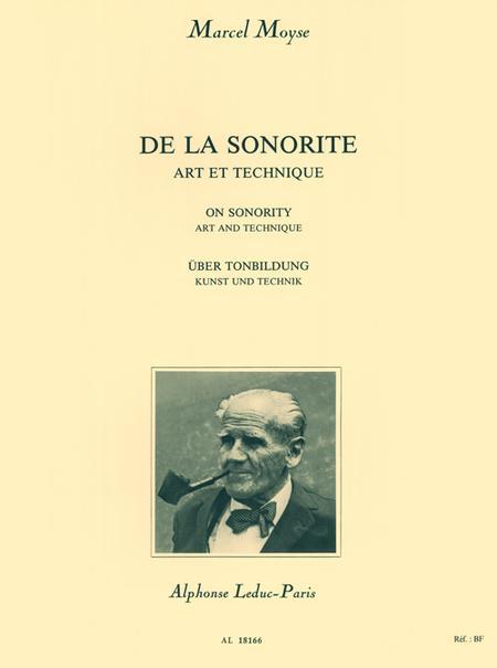 De La Sonorite Art Et Technique Flute