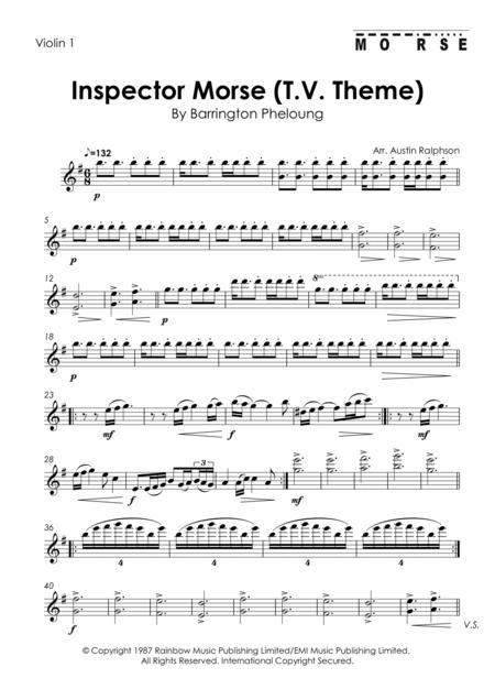 inspector morse (t.v. theme) - string quartet by - digital sheet music for  score,set of parts - download & print h0.768473-sc001257427 | sheet music  plus  sheet music plus
