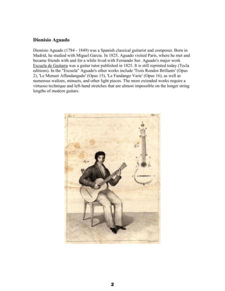 dionisio aguado four easy waltzes opus 7 six petite pieces opus 4 in  tablature and modern notation for baritone ukulele by dionisio aguado  (1784-1849) - digital sheet music for tablature - download  sheet music plus