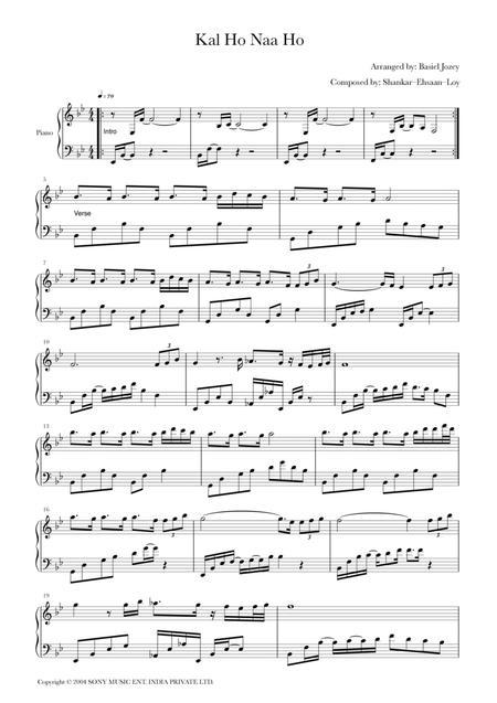 Kal Ho Na Ho Piano Solo Improvised Version By Digital Sheet Music For Individual Part Lead Sheet Score Sheet Music Single Download Print H0 774791 Sc001141134 Sheet Music Plus For free high quality pdf sheet music & midi files : kal ho na ho piano solo improvised version