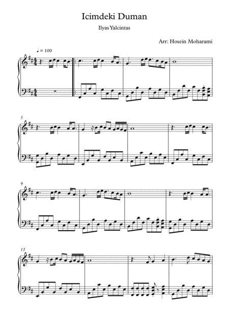 Icimdeki Duman Piano By Digital Sheet Music For Download Print S0 792325 Sheet Music Plus
