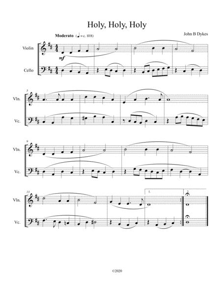 holy, holy, holy (violin and cello duet) by john bacchus dykes - digital sheet  music for score - download & print s0.797583   sheet music plus  sheet music plus