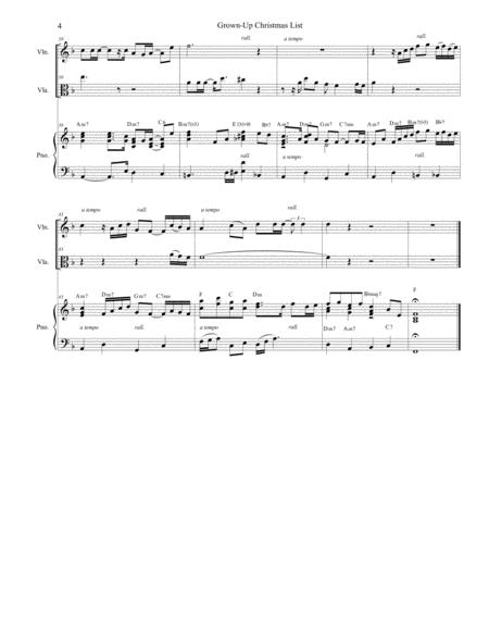 Grown-Up Christmas List (Duet For Violin And Viola) By - Digital Sheet Music For Piano ...