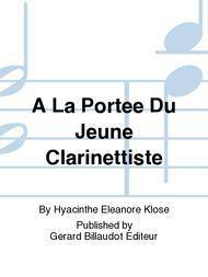 A La Portee Du Jeune Clarinettiste