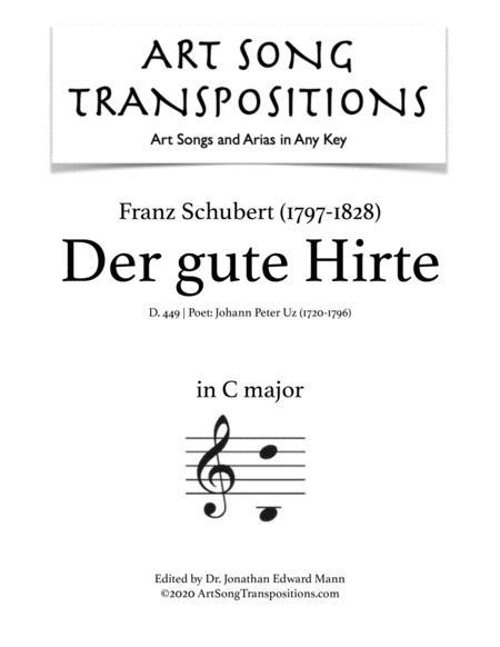 schubert: der gute hirte, d. 449 (transposed to c major) by franz schubert  (1797-1828) - digital sheet music for - download & print s0.863713 | sheet  music plus  sheet music plus