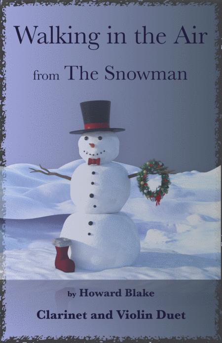 """walking in the air, theme from """"the snowman"""", for clarinet and violin  duet by - digital sheet music for score - download & print  h0.877361-sc001290882   sheet music plus  sheet music plus"""