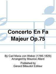 Concerto en Fa Majeur Op.75