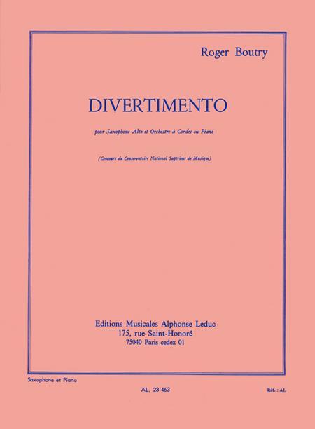 Divertimento (Sax.Orch.Cordes) - Saxophone Mib Et Piano