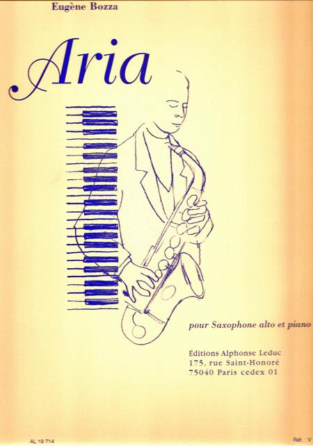 Aria pour Saxophone alto et piano
