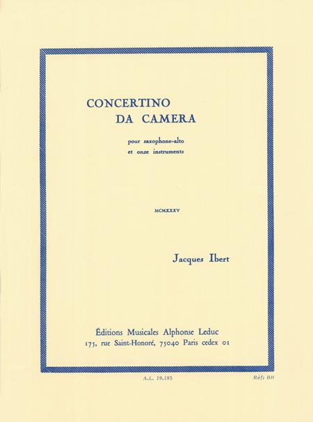 Concertino Da Camera - Saxophone Mib et Piano