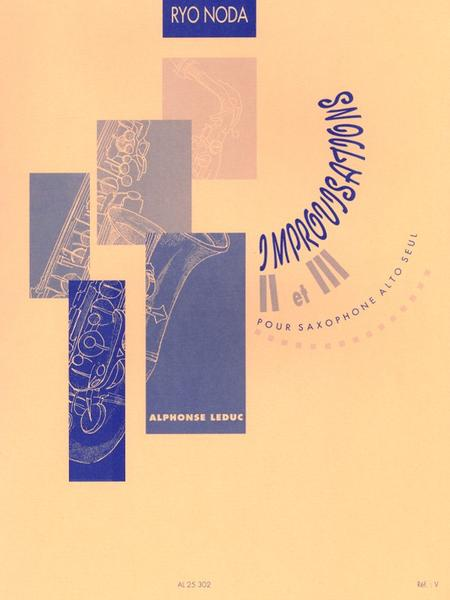 Improvisations 2 et 3 - Saxophone Mib Seul