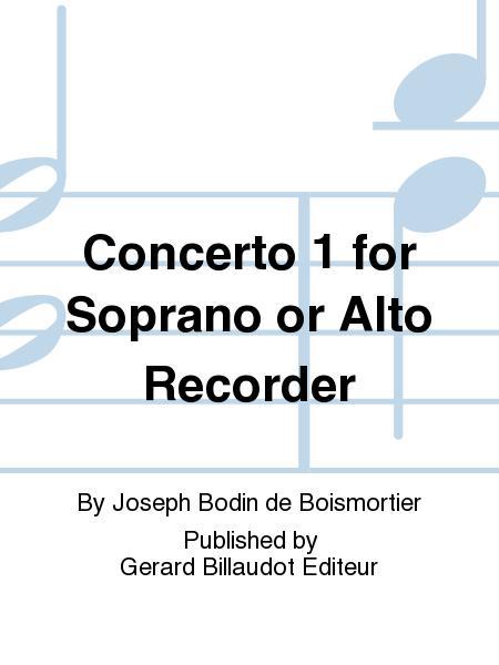 Concerto 1 For Soprano Or Alto Recorder