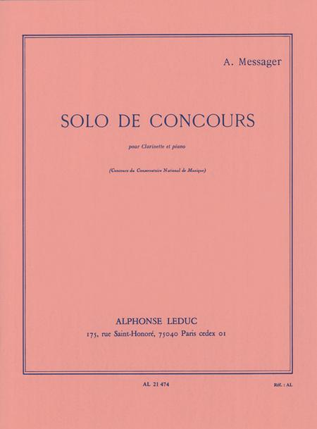 Solo de Concours - Clarinette Sib et Piano