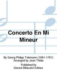 Concerto En Mi Mineur