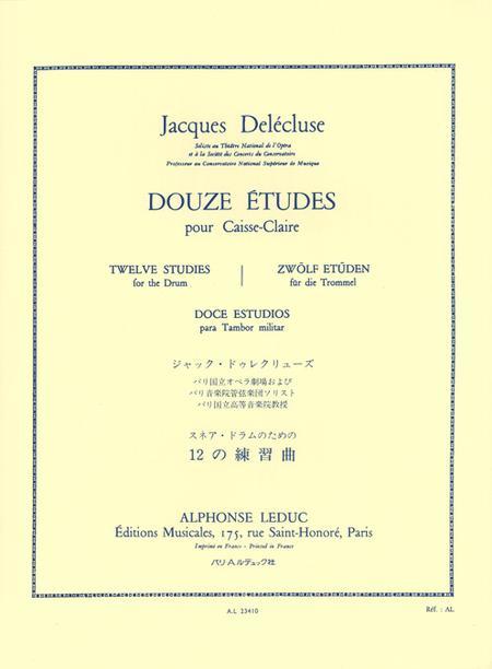 12 Etudes - Caisse Claire