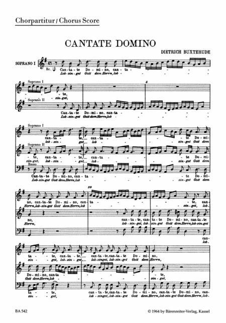 Cantate domino - Lobsinget Gott, dem Herrn BuxWV 12