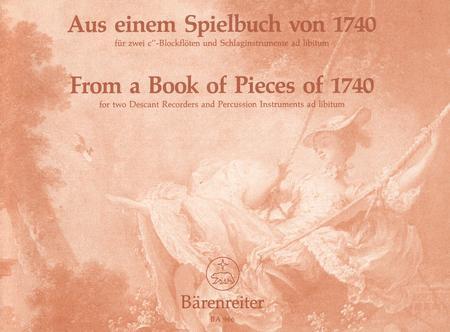 Aus einem Spielbuch von 1740